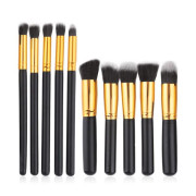 Technique Pro® Make-up Brushes Zwart / Goud - 10 Stuks