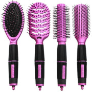 Haar Borstels Kit Set van 4 - Salon Professional, Roze