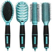 Haar Borstels Kit Set van 4 - Salon Professional - turquoise