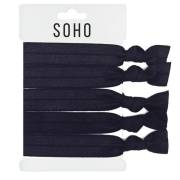 SOHO® Haar Elastieken Nr. 17 - ALL BLACK