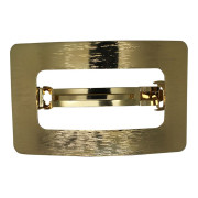 SOHO® Rectangle Metaal Haar Clip - Goud