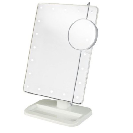 UNIQ® Hollywood Makeup Mirror with LED Light x10 Magnification - Wit