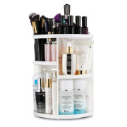 Monoko® 360º Rotating Make-up Organizer, Wit