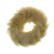 Hair Elastic with Fur - Faux Scrunchie, Light Brown