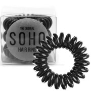 SOHO® Haarelastieken, All Black - 3 stk.