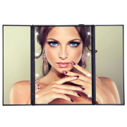 UNIQ® Vanity Tri-fold Makeup Mirror with LED Light - Swart