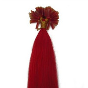Hot Fusion Haar Extensions - 50 cm - Rood