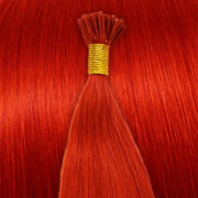 Cold Fusion hair extensions - 50 cm - Rood