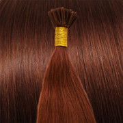 Cold Fusion hair extensions - 50 cm - #33 Rood