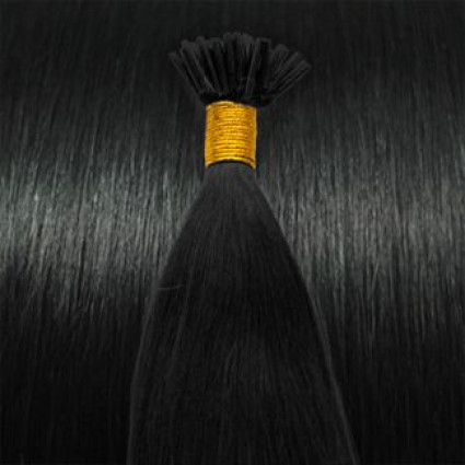 Cold Fusion hair extensions - 60 cm - #1 Zwart