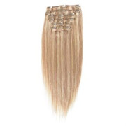 Clip-on hair extensions - 65 cm - #18/613 Blond Mix
