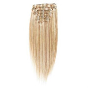 Clip-on hair extensions - 50 cm -  #27/613 Lichtblond Mix
