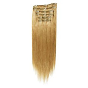 Clip-on hair extensions - 65 cm - #27 Midden Blond