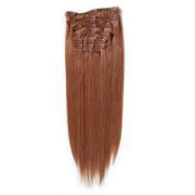 Clip-on hair extensions - 50 cm - #33 Rood