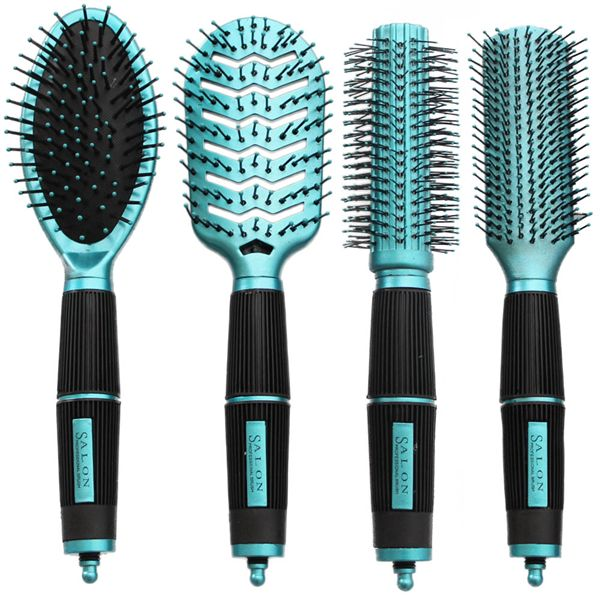 Image of   Haar Borstels Kit Set van 4 - Salon Professional - turquoise